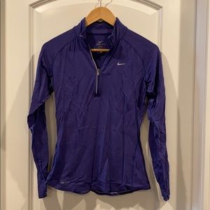 Nike DriFit pullover jacket size small purple